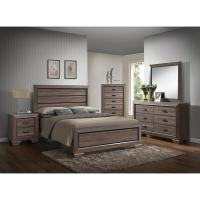 Lyndon Weathered Grey 4-piece Bedroom Set - Free Shipping ...