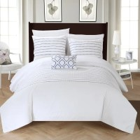 Chic Home Kingston 8-Piece White Bed in a Bag Duvet Set ...