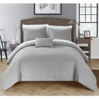 Shop Chic Home Kingston 8-Piece Grey Bed in a Bag Duvet ...