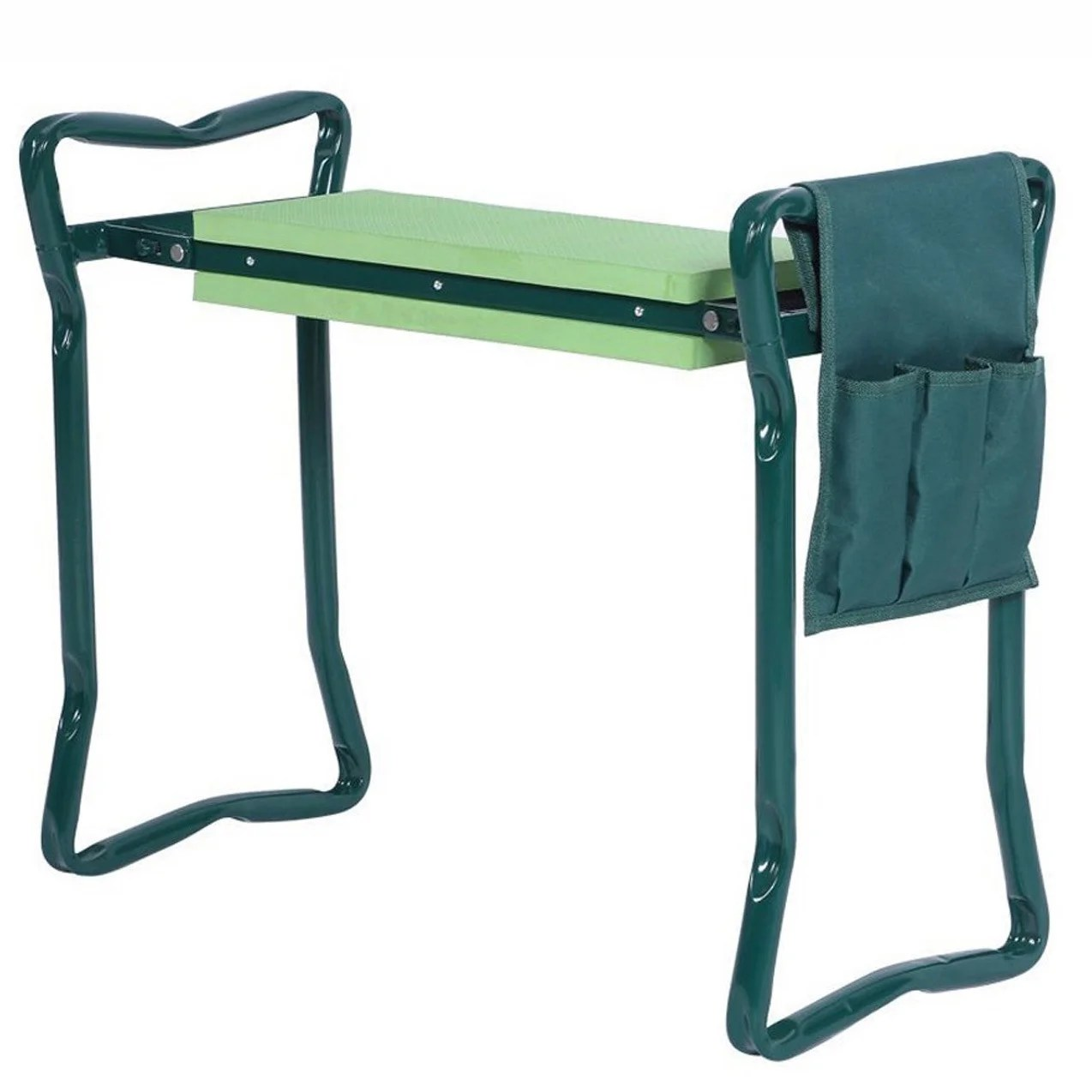 Shop Foldable Garden Kneeler Portable Garden Stool With Tool Pouch Thick Eva Pad Handles And Seat Overstock 12306141