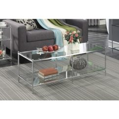 Natal Chrome And Glass Sofa Table Denver Coffee, & End Tables - Shop The Best Brands ...