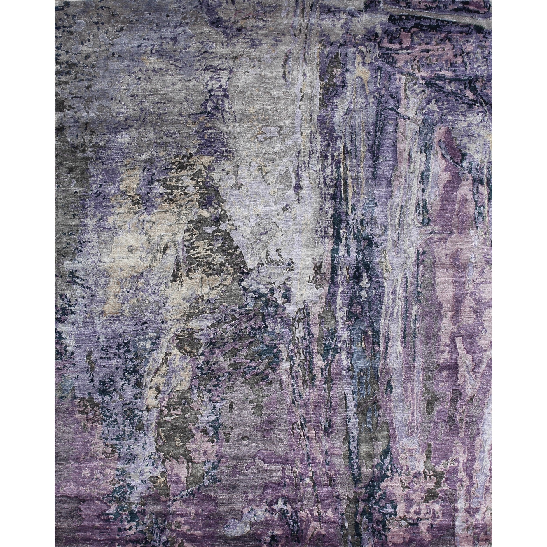 Pasargad Modern Hand-knotted Viscose from Bamboo Area Rug (8' x 10') - Multi
