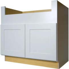 Base Kitchen Cabinets New Appliances Shop Everyday 36 Inch White Shaker Farmhouse Apron Sink Cabinet