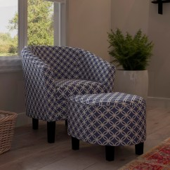 Navy Blue Chair With Ottoman Atlanta Massage Bay View Brust Dark Club And Free