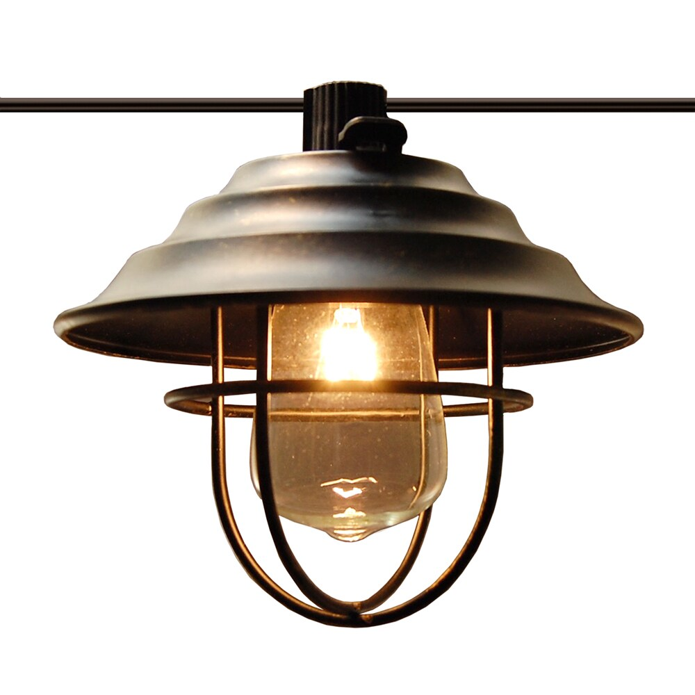 Metal Cafe Bronze Electric String Lights with 10 Lights