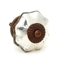 Shop Antique Silver Mercury Glass Knobs, Cabinet Pulls