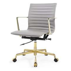 Office Chair Sale Re Sling Patio Chairs Shop M5 In Gold And Grey Aniline Leather On
