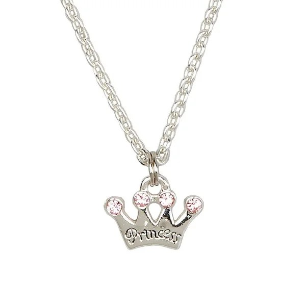 Shop Sterling Silver Pink Princess Crown Charm Child