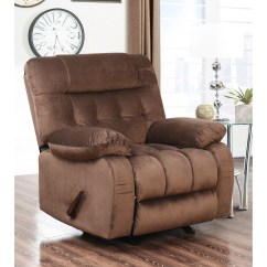 Abbyson Living Rocking Chair Light Brown Leather Wingback Sparrow Padded Rocker Recliner Ebay