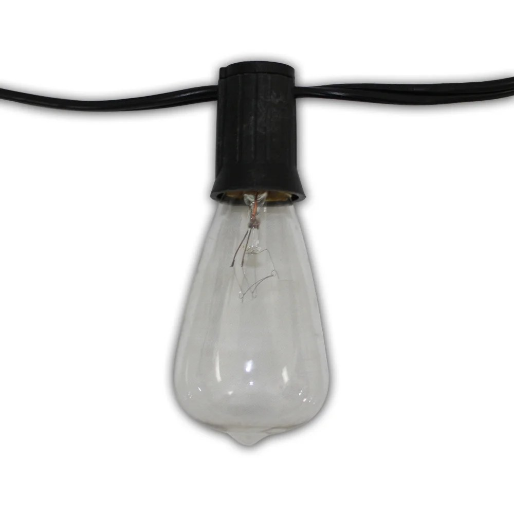 Edison 12-foot 10-light 18-gauge Cord with Clear Vintage Bulbs