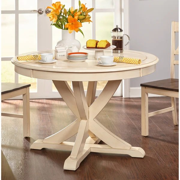 antique white living room tables small interior designs images shop simple vintner country style round dining table