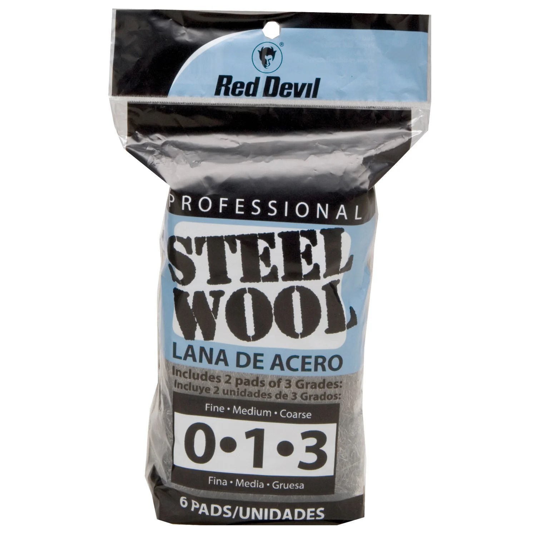 Red Devil 3332 Assorted Steel Wool 6 Pack