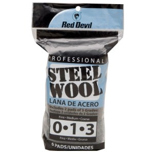 Red Devil 3332 Assorted Steel Wool 6 Pack