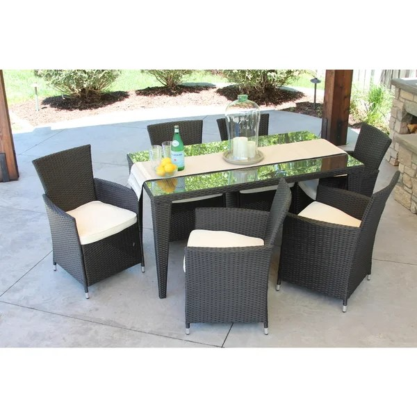 all weather garden chairs hanging basket canada discontinued outdoor rattan wicker 7 piece patio set