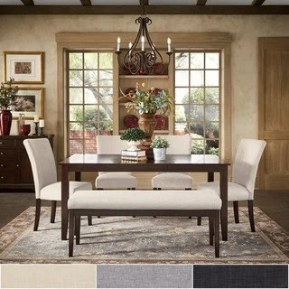 bench for kitchen table wall storage buy seating dining room sets online at overstock com pranzo rectangular 66 inch extending set by inspire q classic