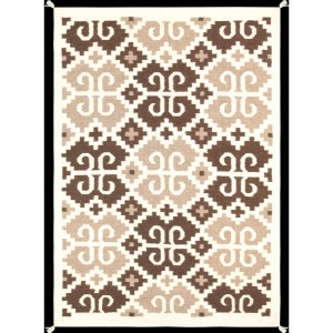 Indian American Decorative Hand-woven Wool Multicolor Area Rug (4'2 x 6') - Multi