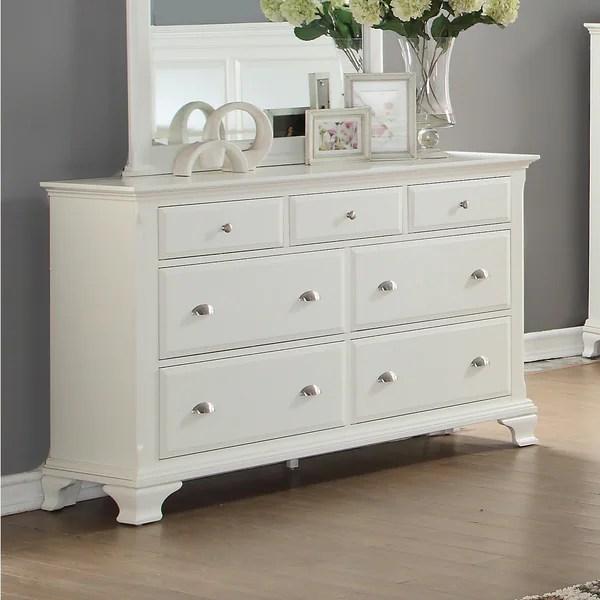 Wood Dresser White Drawers