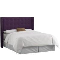 Shop Skyline Furniture Eggplant Purple Velvet Nail-button ...