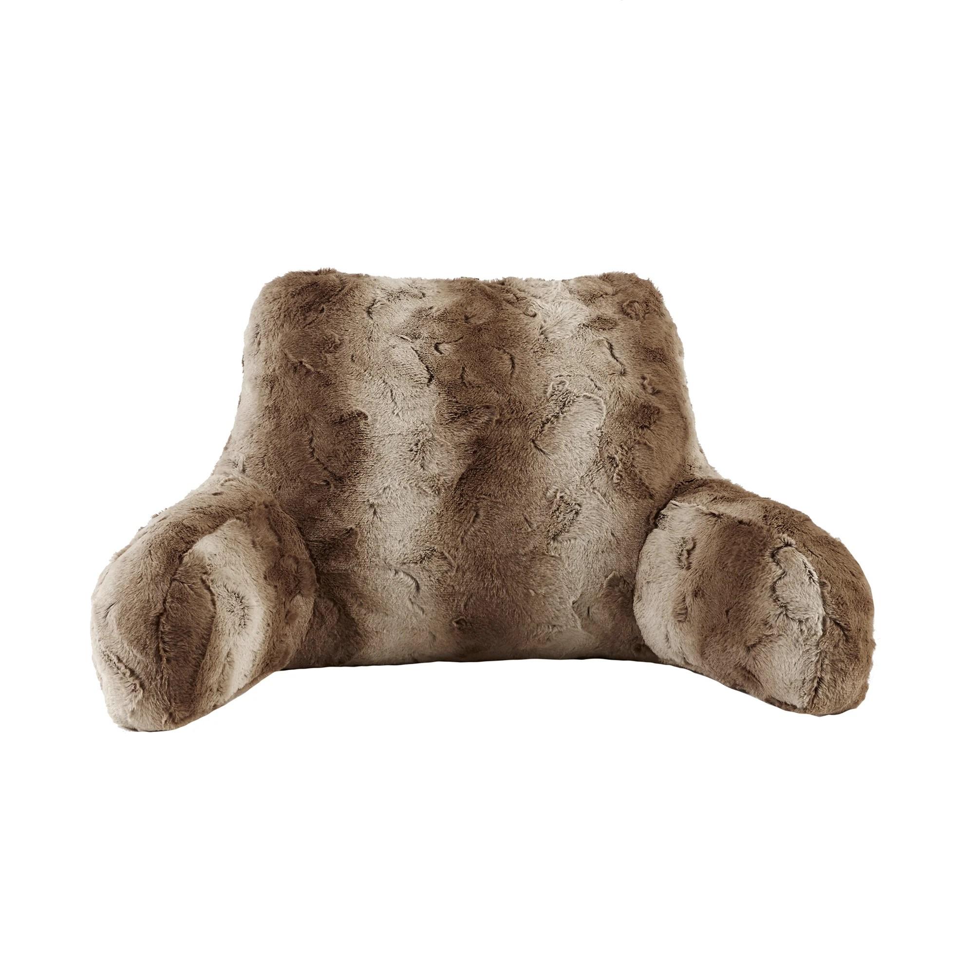 madison park marselle faux fur backrest pillow 3 color options