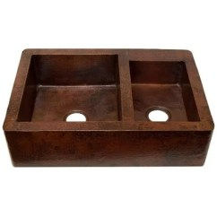 60 40 Kitchen Sink Mobile Home Cabinets Shop Novatto Farmhouse Split Antique Copper Free Shipping Today Overstock Com 12495497