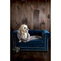 Tufted Sofas On Sale Sofa Fabric Cleaner Uk Shop Husky Navy Blue Velvet Couch Pet Bed With Nail ...