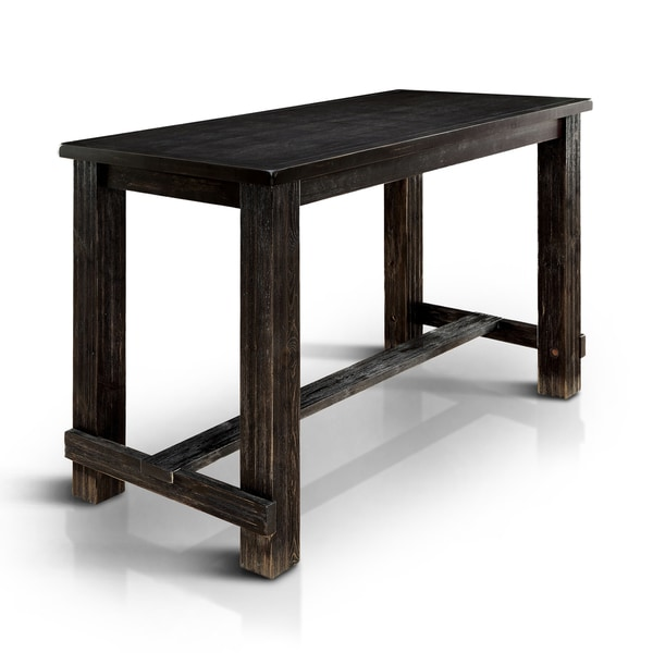 Shop Telara Contemporary Antique Black Bar Table By Foa On Sale Free Shipping Today Overstock 20830813