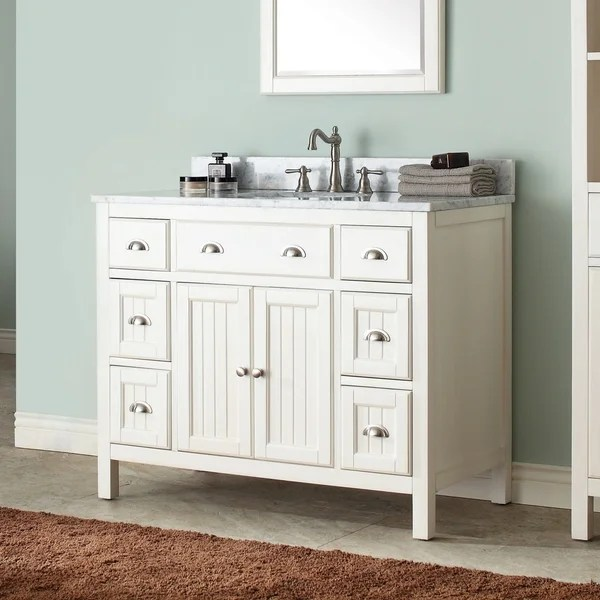 Shop Avanity Hamilton 42 Inch Vanity Only In French White Finish Overstock 12531849