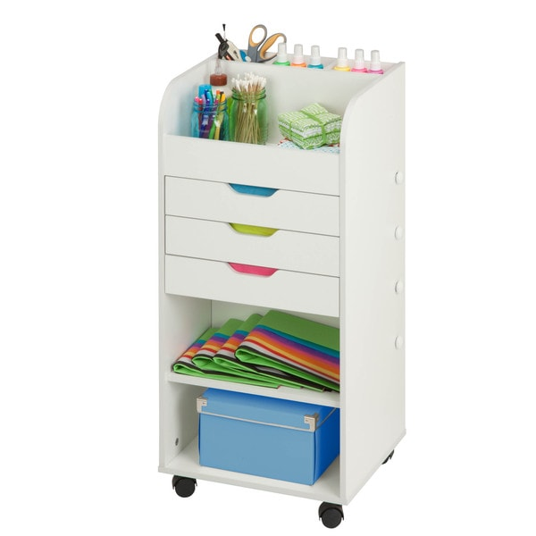 Shop Honey Can Do Craft Storage W 3 Drawers Overstock 12532661