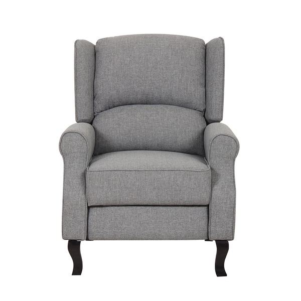 Modern Wingback Linen Fabric Accent Recliner Chair  Free Shipping Today  Overstockcom  19344919