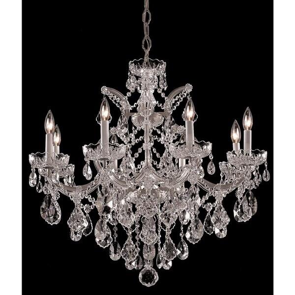 Crystorama Maria Theresa Collection 9 Light Polished Chrome Swarovski Strass Crystal Chandelier