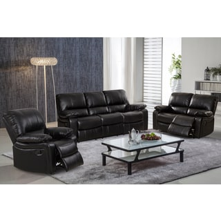 sofa rocking chair bed manufacturers uk buy chairs living room furniture sets online at overstock samantha leather gel 3 piece reclining set with swivel rocker recliner