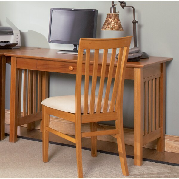 harvard chair for sale best lower back pain shop atlantic furniture caramel latte wood mission desk with drawer
