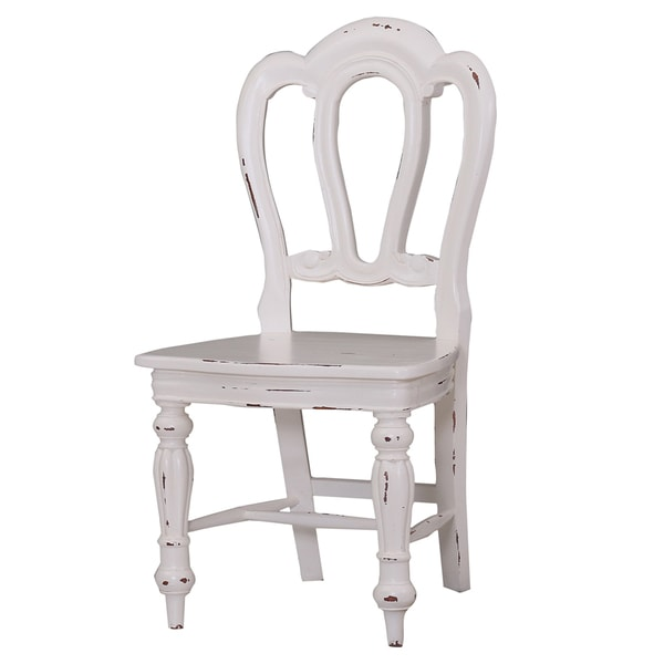 white distressed dining chairs foam seat pads for shop bramble co napoleon heavy set of 2 free shipping today overstock com 12596791