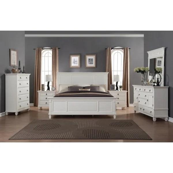 Shop Regitina White 6 Piece King Size Bedroom Furniture Set Overstock 12602078