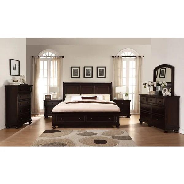 Shop Brishland Rustic Cherry Queen-size Storage Bedroom ...