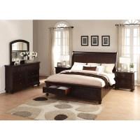 Brishland Rustic Cherry King-size Storage Bedroom Set ...