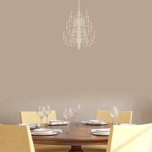 Chandelier' 12 x 18-inch Wall Decals