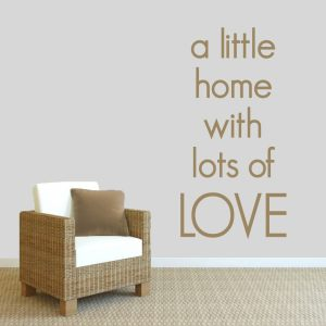 A Little Home with a Lot of Love' 30-inch Wide x 60-inch Tall Wall Decal