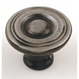 "Ultra Hardware 41532 1-1/8"" Antique Steel Trendset High Density Zinc Knob"