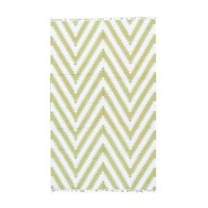 Kilim Flatweave Ivory/Beige Wool Zigzag Area Rug - Multi