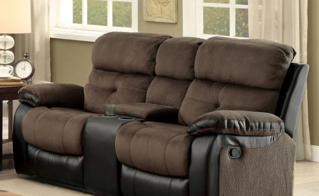 Shop Fawnie Contemporary Brown Reclining Loveseat With