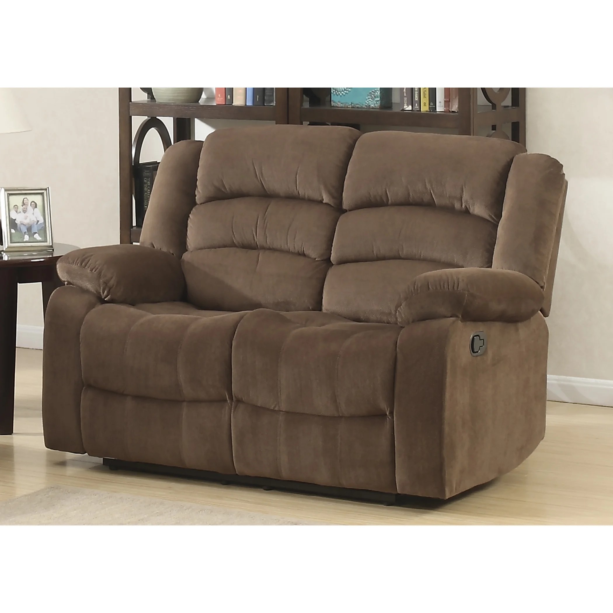 Double Recliner Chair Details About Double Recliner Chair Dual Reclining Loveseat Polyester Soft Brown Comfy Tv Room
