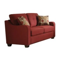 Wing Back Off White Natural Linen Loveseat - Reviews ...