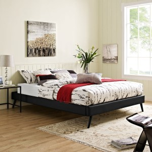Modway Helen Black Wood Round Splayed Legs Bed