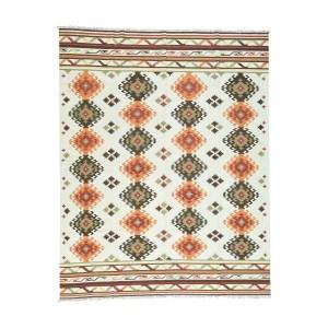 Anatolian Durie Ivory Wool Kilim Hand-woven Flatweave Oriental Area Rug (9'3 x 11'8)