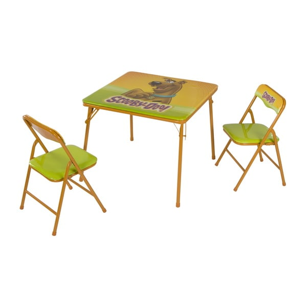 scooby doo chair bedroom reading shop o kids multicolor metal children s table and chairs x27
