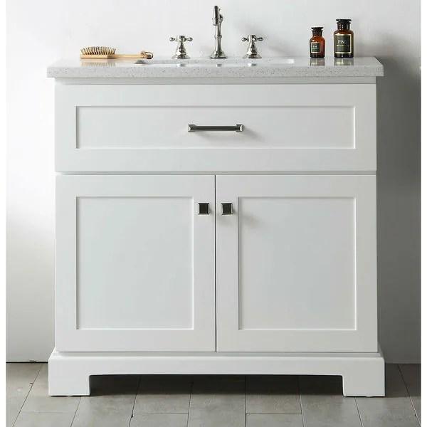 Shop Legion Furniture White Quartz Top 36inch Sink Vanity