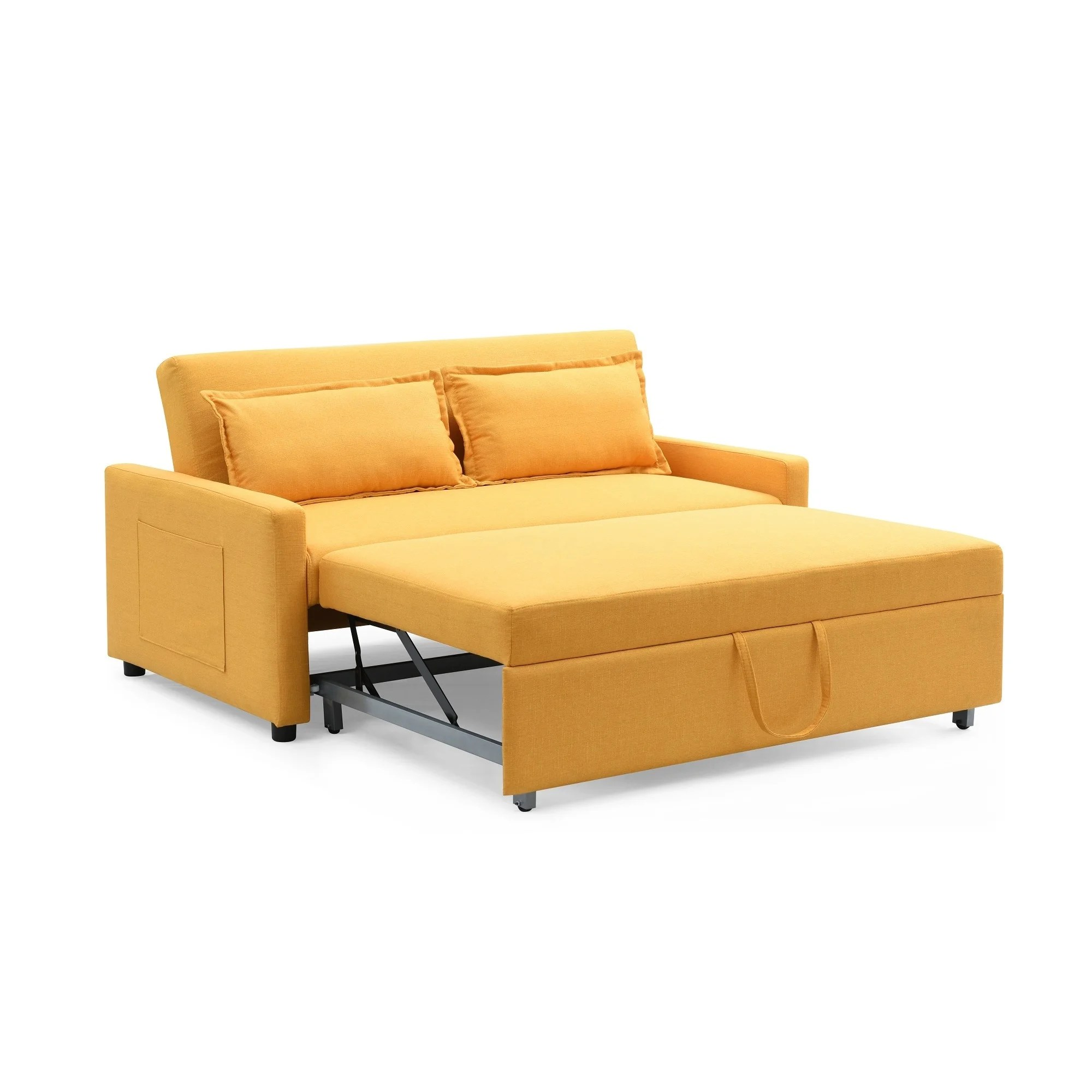modern convertible sofa with pull out bed cost to reupholster the curated nomad stadtmuller