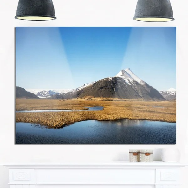 Shop Scenic Southern Iceland Landscape Photo Glossy Metal Wall Art ...