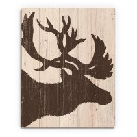 Shop Brown Moose Silhouette' Wood Wall Art - Free Shipping ...
